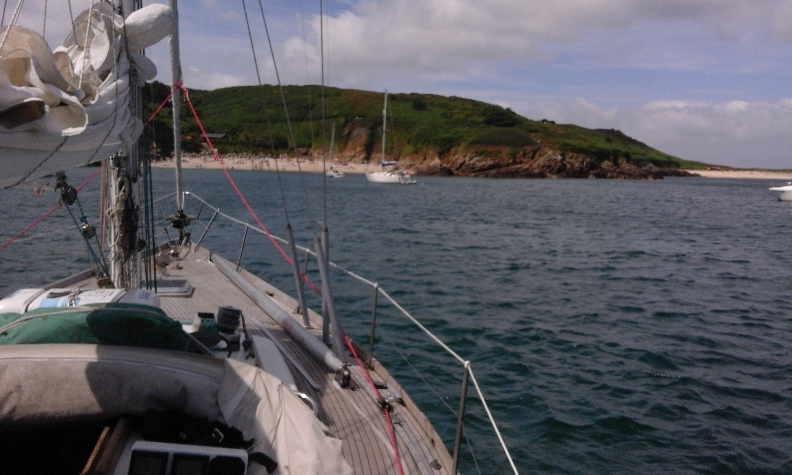 Lunch anchorage off Shell beach, Herm