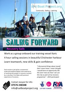 sailing forward recovery sails poster