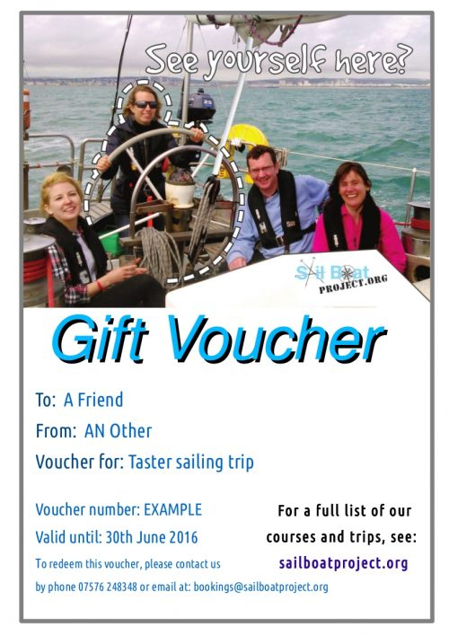 sailing gift voucher here