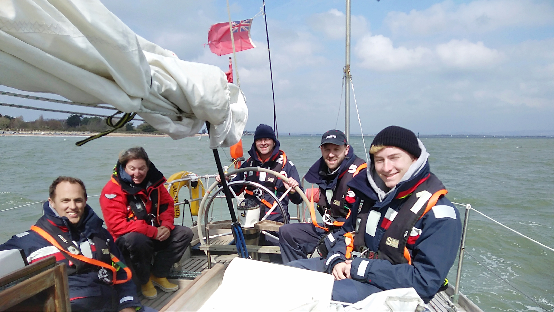 April sailing in the Solent